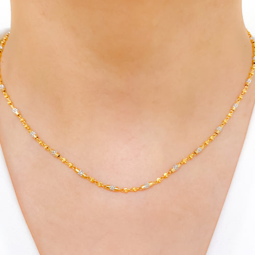 Dressy Alternating Two-Tone Chain