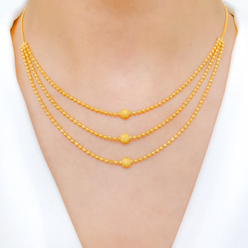 Classic Three Lara Beaded Necklace Set