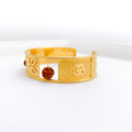 Divine Rudraksh & Om Bangle Cuff