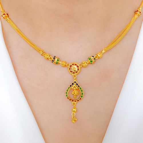 Chic Meenakari Necklace Set
