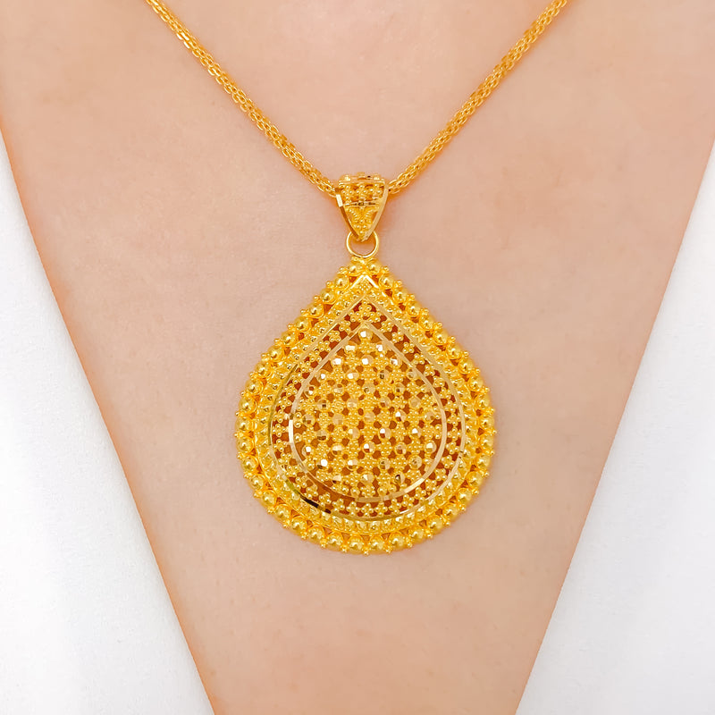 Traditional Zali Drop Pendant