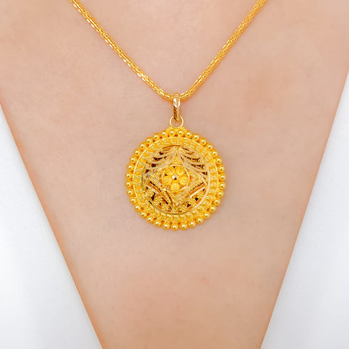 Beautiful Circular Dome Pendant
