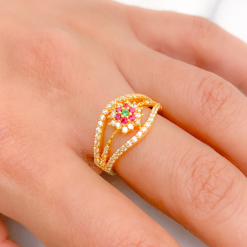 Traditional Halo Style CZ Ring