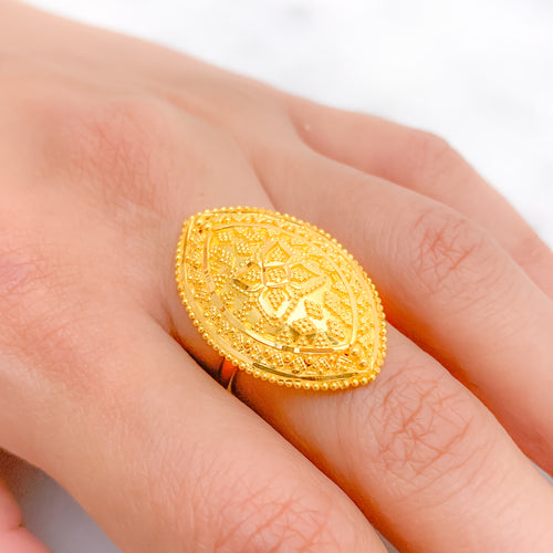 Filigree Marquise Statement Ring