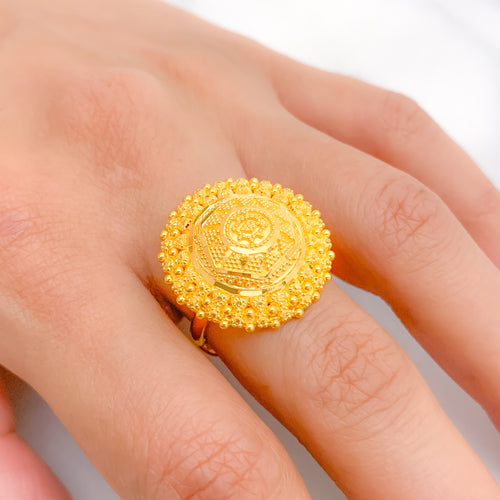 Graceful + Traditional Circular Ring