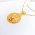 Gracefully Classic Gold Pendant