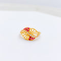 Everyday Red & White CZ Ring