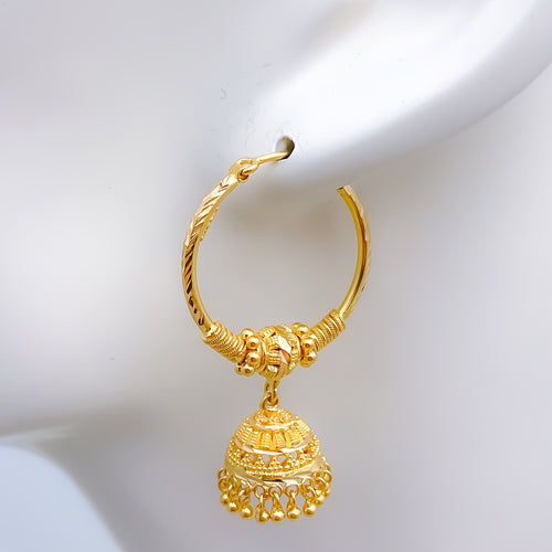 Classic Bali Jhumki Earrings