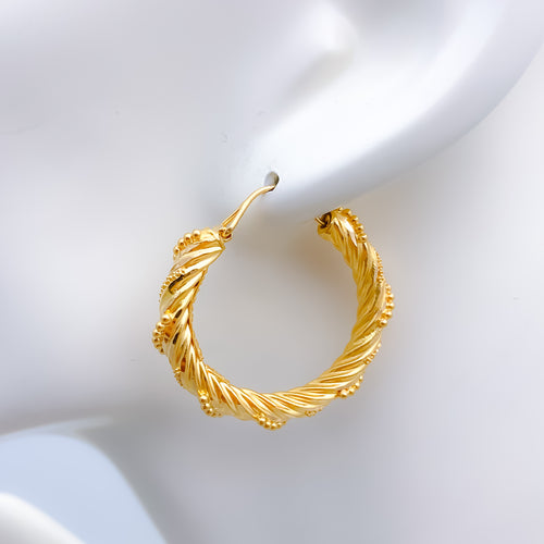 Classy Twisted Bali Earrings