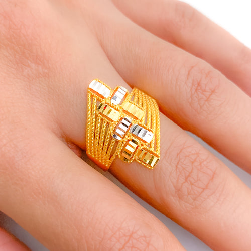 Modern Patterned Ring