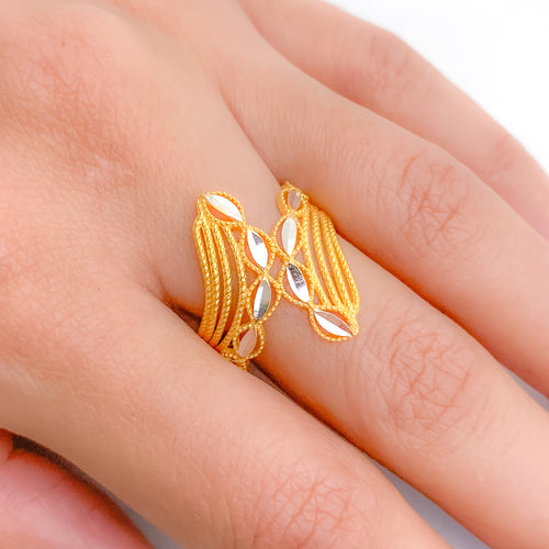 Classy Symmetrical Two-Tone Ring