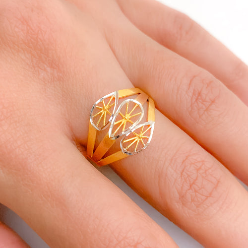 Three-Accent Two-Tone Ring