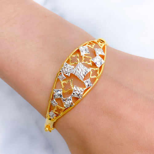 Contemporary Statement Bangle Bracelet