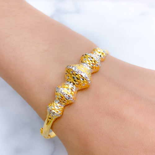 Grand Five Accent Bangle Bracelet