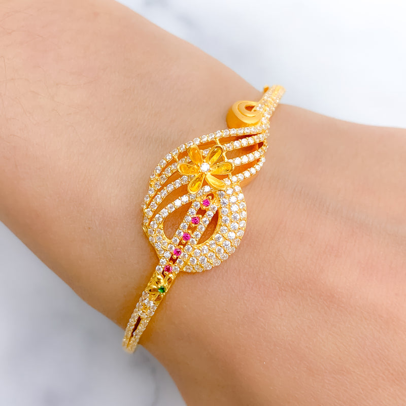 Elegant Statment CZ Bangle Bracelet