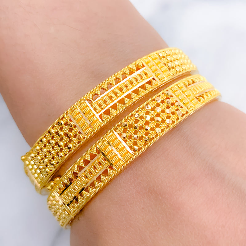 Lightweight Jali Bangle Pair