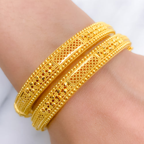 Subtle Traditional Bangle Pair