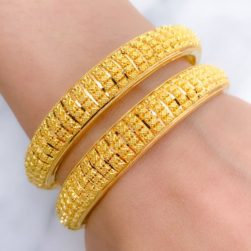 Traditional Rounded Bangle Pair