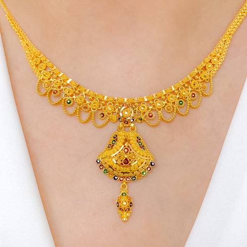 Dressy Meena Necklace Set