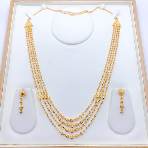 Fancy 4 Lara Finish Necklace Set
