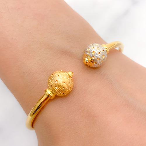 Dapper Two-Tone Bangle Bracelet