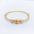 Charming Dotted Orb Bangle Bracelet