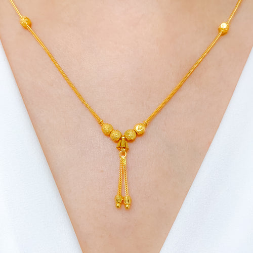 Shimmer Cut Gold Necklace