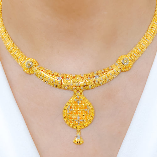 Stately Two-Tone Necklace Set