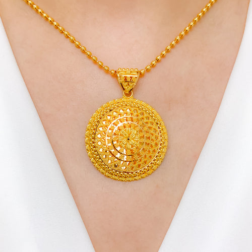 Evergreen Shining Round Pendant