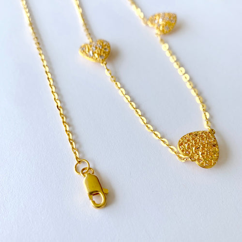 Charming Long Heart Chain