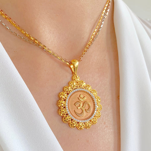 Rose Gold Om Pendant