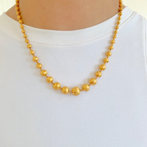 Graduated Gold Bead Chain