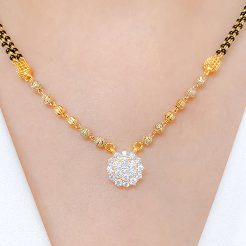 Traditional CZ Cluster Necklace