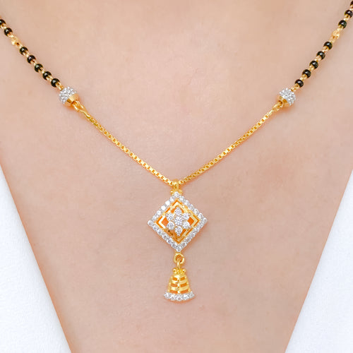 Dressy Diamond Shape Necklace