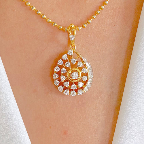 Solitaire Set Diamond Pendant