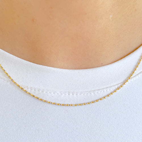 Delicate Two-Tone Chain