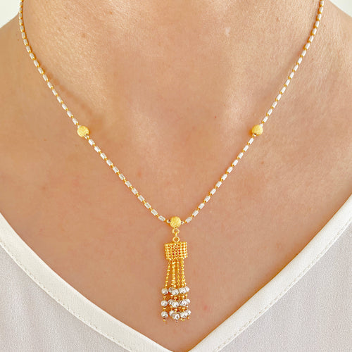 Two-Tone Box Necklace Set