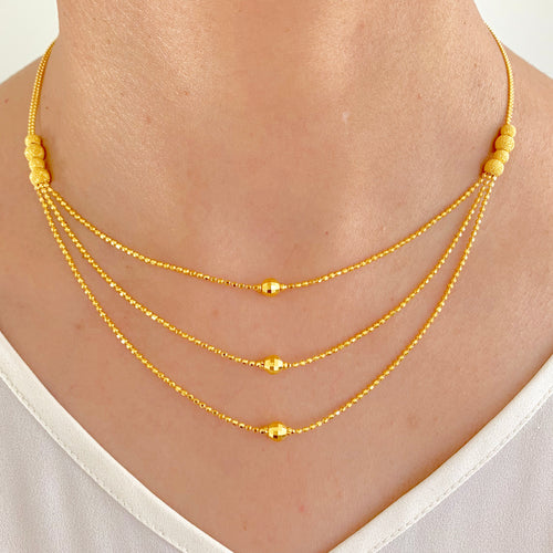 Three Layer Modern Necklace Set
