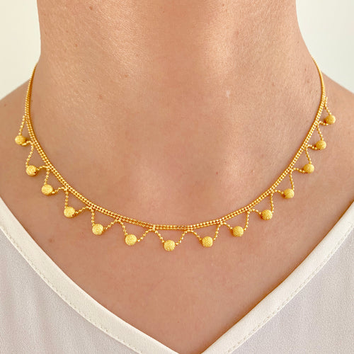 Woven Gold Necklace Set