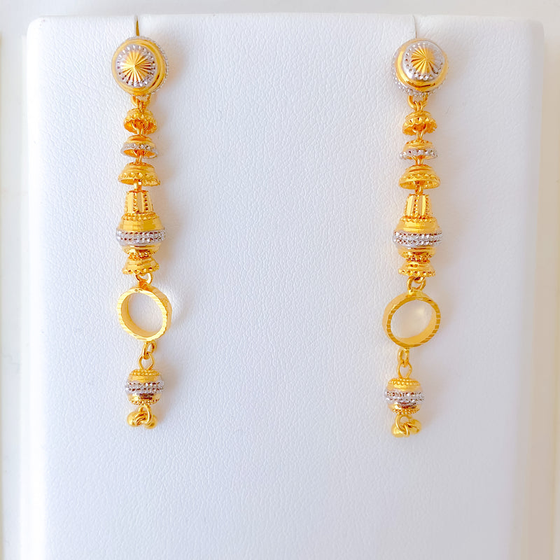 Hanging Two-tone Earrings