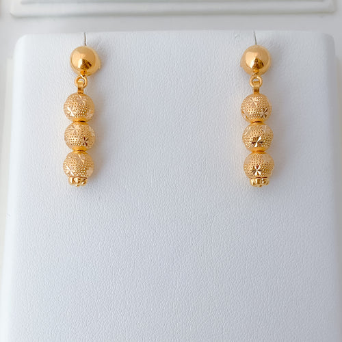 Three Bead Earrings