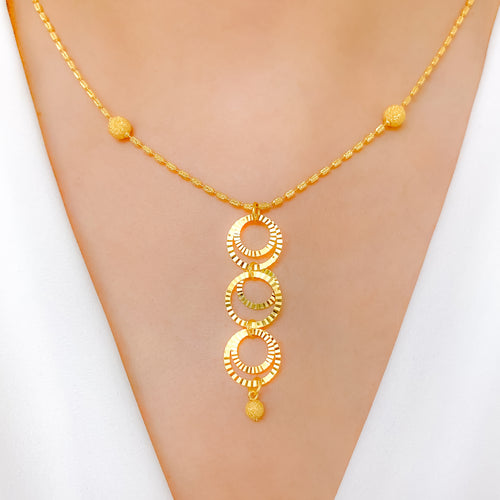 Shimmering Circles Necklace Set