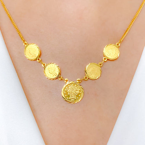 Trendy + Vintage Coin Necklace