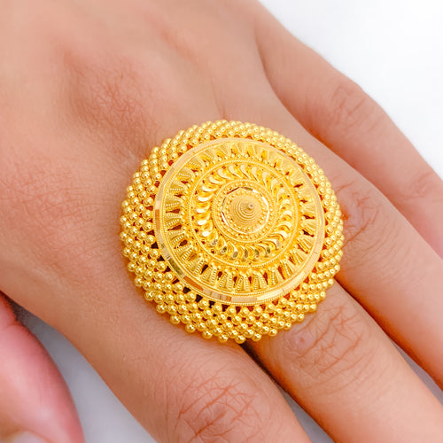 Exquisite Wide Statement Ring