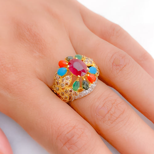 Bold Multi-Stone Statement Ring