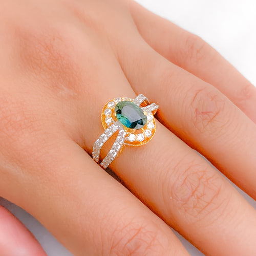 Vintage CZ Accented Ring