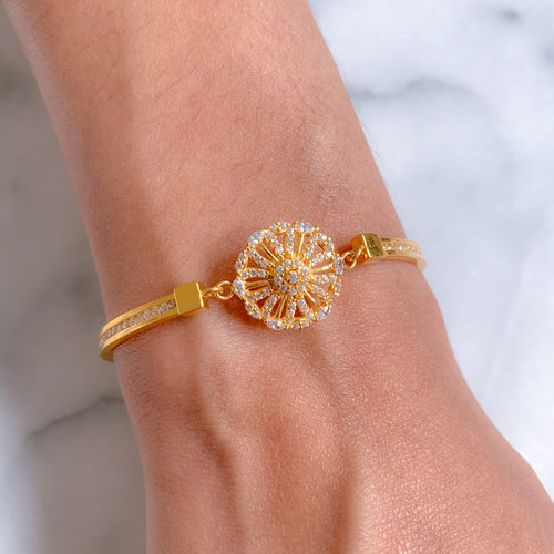 Petite Flower Bangle Bracelet
