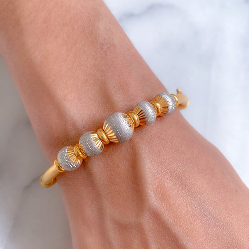Stunning Two-Tone Bangle Bracelet