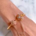 Rose Gold Dual Bangle Bracelet