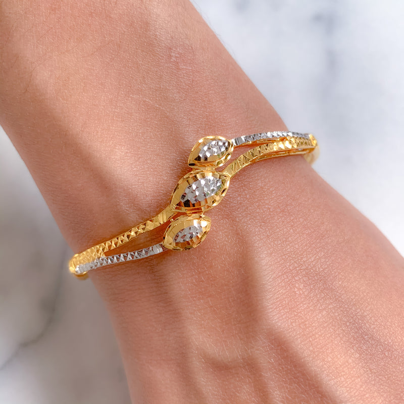 Triple Accent Bangle Bracelet